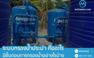 ระบบกรองน้ำประปา หมู่บ้าน ผิวดิน คืออะไร มีขั้นตอนการกรองน้ำอย่างไรบ้าง